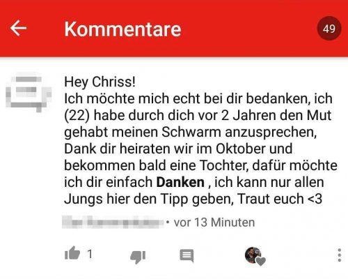 ChrissKiss Schönster Kommentar